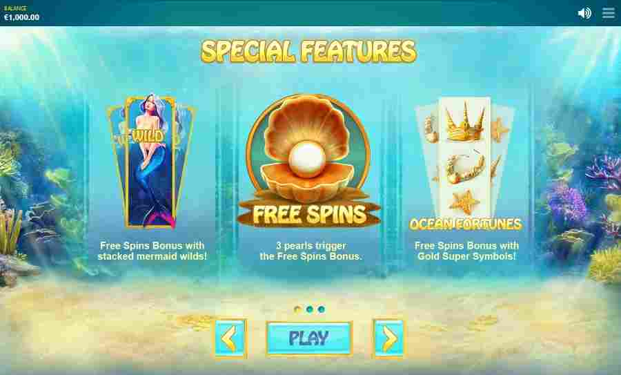 Ocean Fortune Special Features