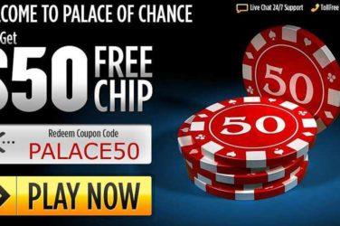 Palace of Chance No Deposit Bonus PALACE50