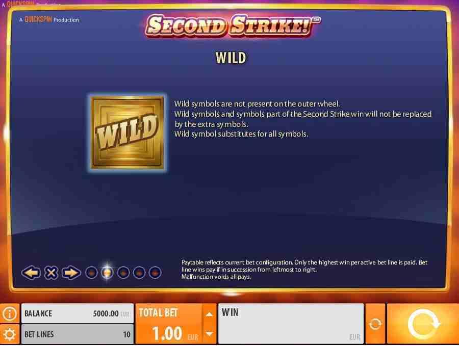 Second Strike Wild feature