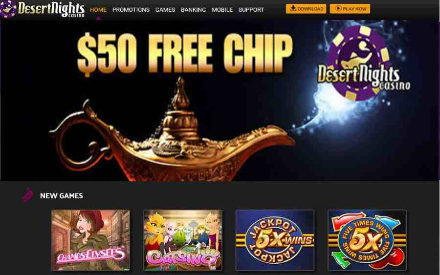 Desert Nights Casino No Deposit Bonus