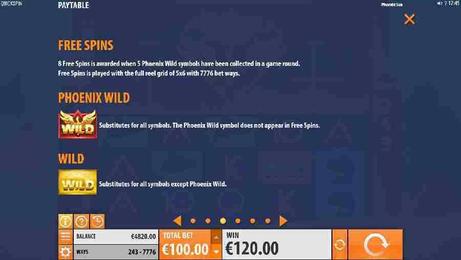 Phoenix Sun Bonus Feature