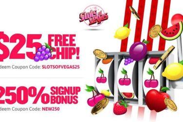 Slots of Vegas No Deposit Bonus + 250%