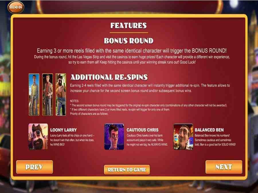Bonus Re-Spins Feature