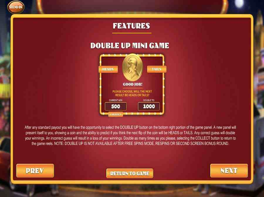 Double Up Mini Game Feature