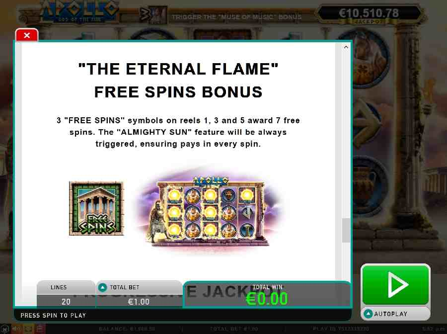 Eternal flame bonus