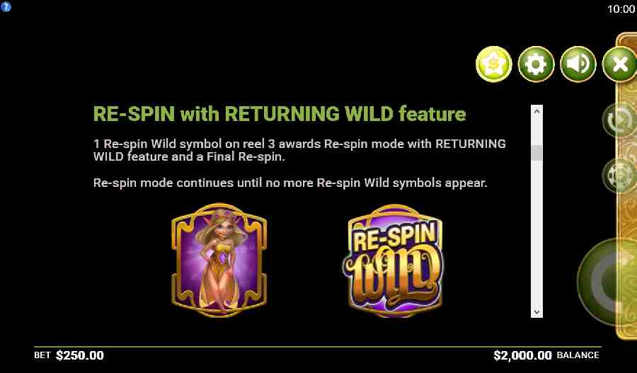 Re Spin Wild Feature