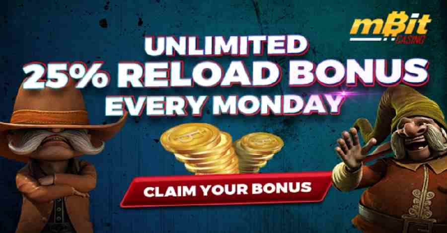 mBit Reload bonus Mondays