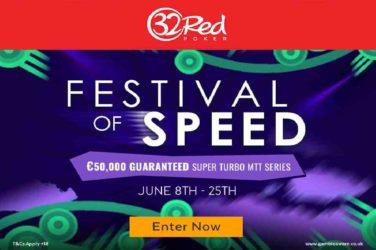 32Red Poker Speed Super Turbo MTT series