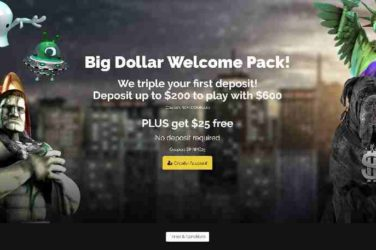 Big Dollar Free Chip Deposit bonus