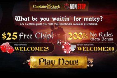 Captain Jack No Deposit Bonus Code