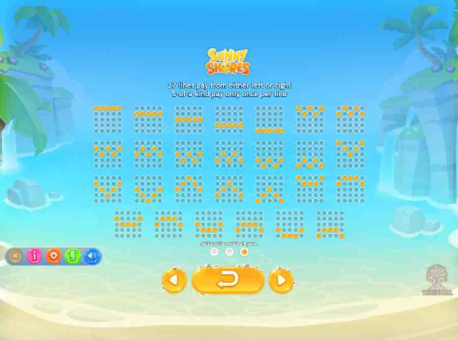 Sunny Shores 27 Ways Win Lines