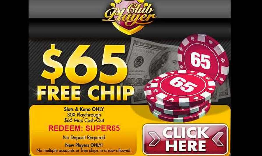 Club Player No Deposit Bonus Code SUPER65