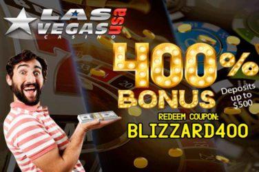 Las Vegas USA bonus code BLIZZARD400