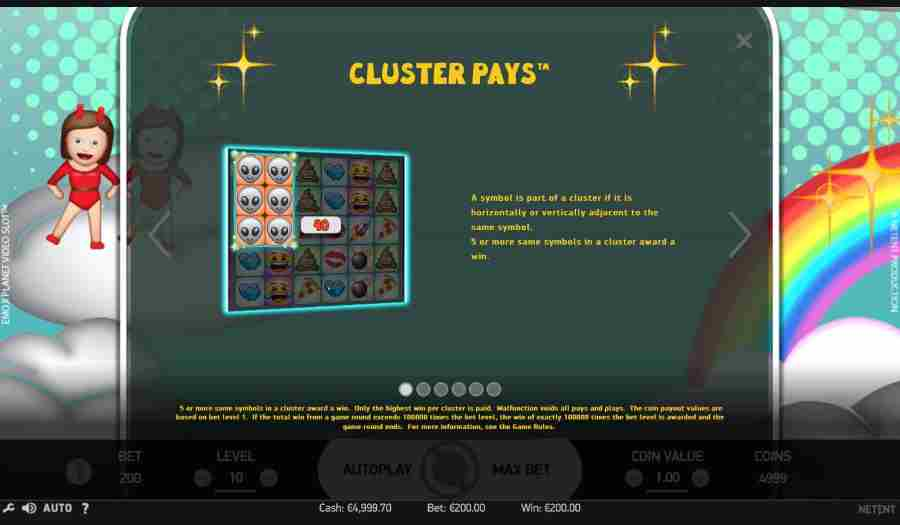 Cluster Pays Feature