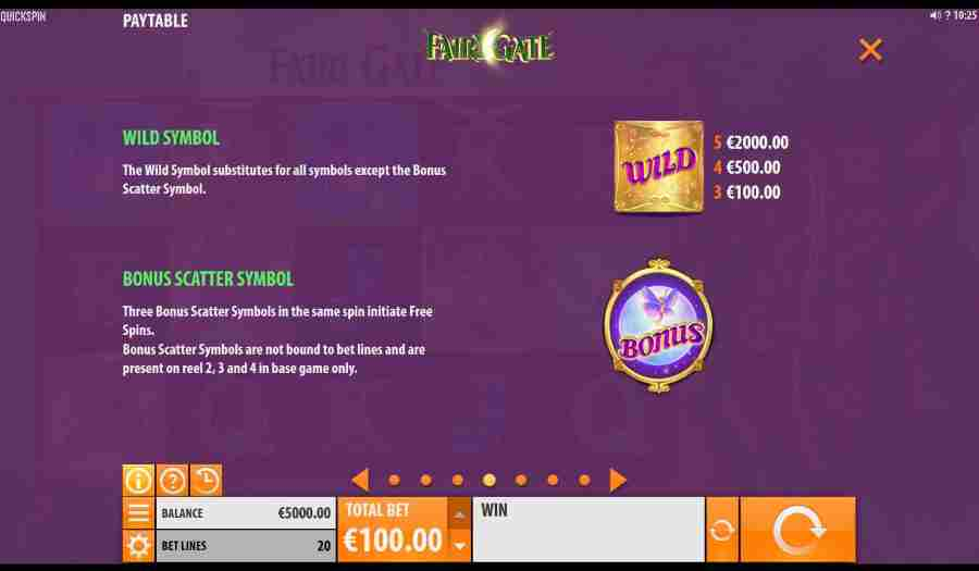 Fairy Gate Bonus Features