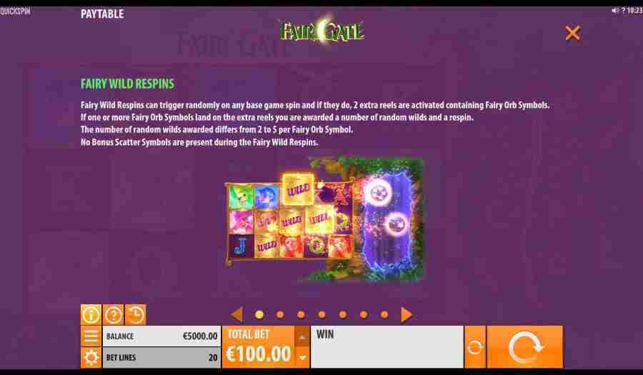 Fairy Gate Wild Re Spins Feature