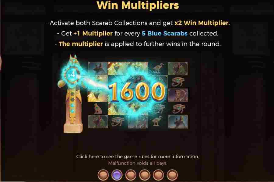 Valley Of The Gods Win Multipliers Feature