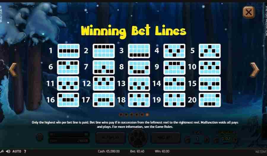 Winning Bet Lines