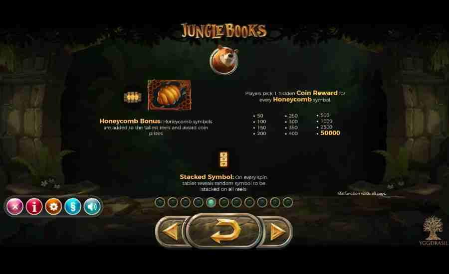 Jungle Books Honeycomb Bonus