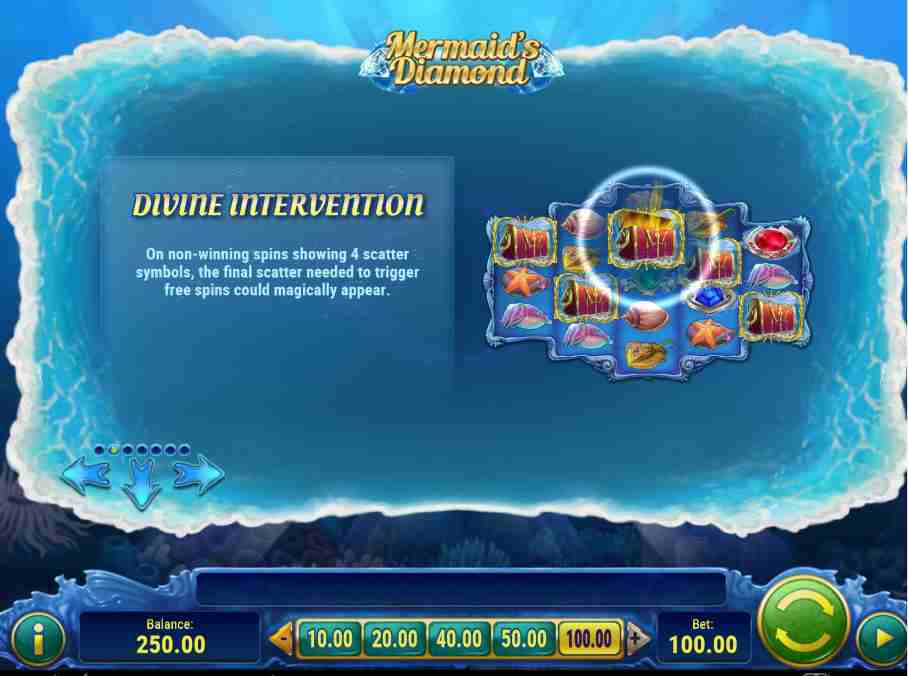 Mermaid Diamonds Divine Intervention Feature