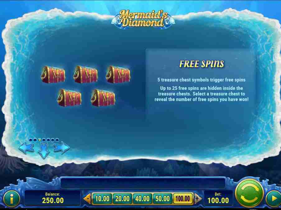 Mermaid Diamonds Free Spins Feature