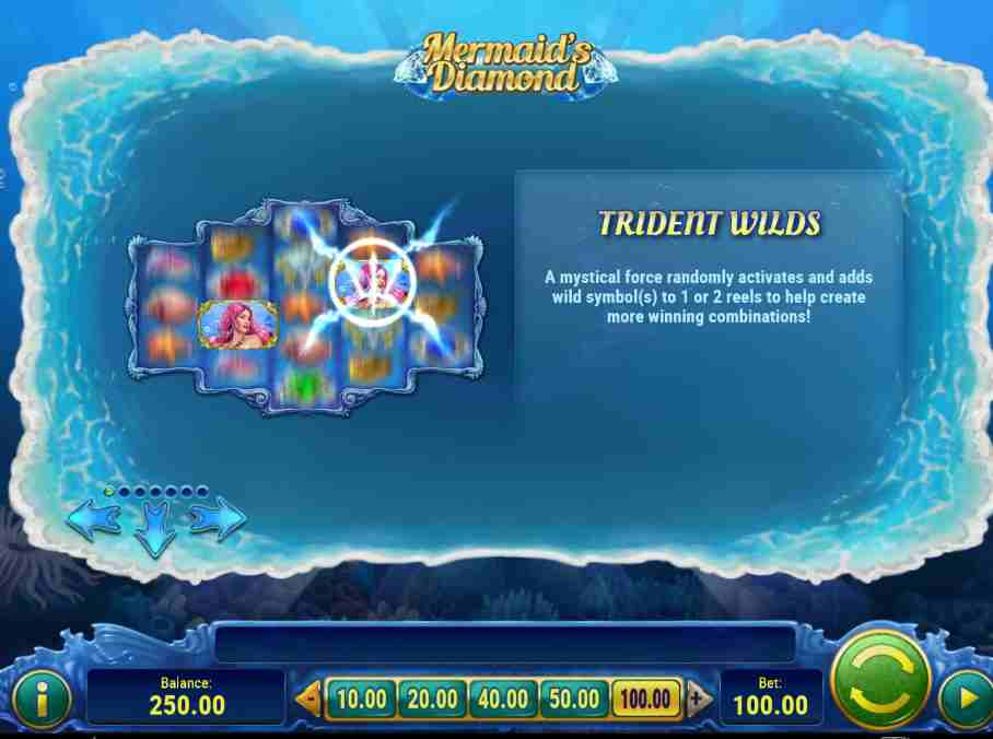 Mermaid Diamonds Trident Wilds Feature