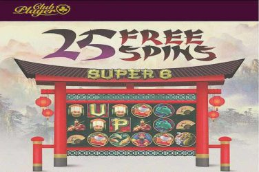 Club Player Casino 25 Free Spins on Super 6