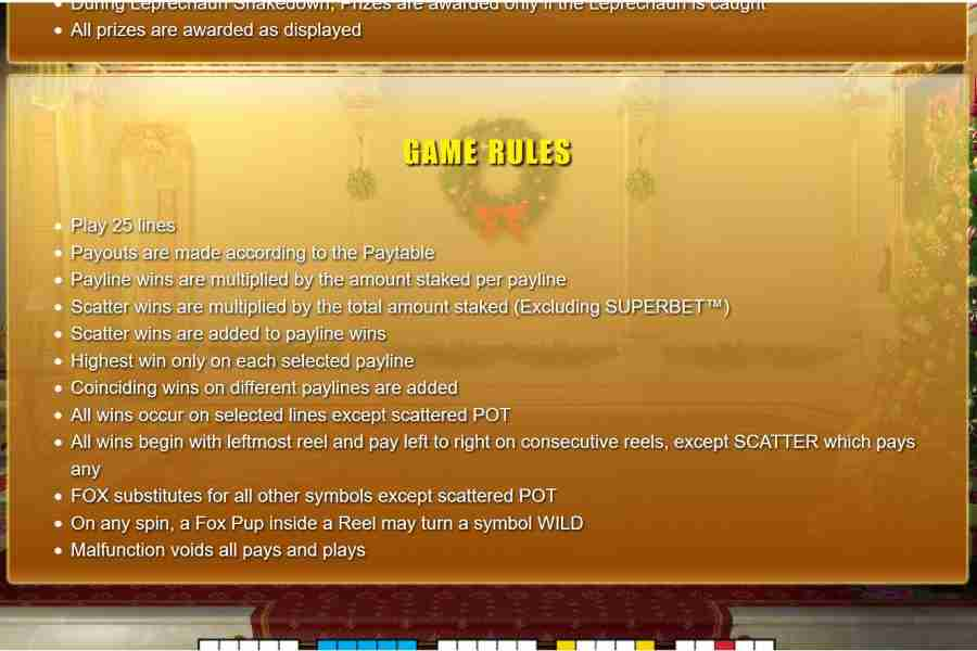 Game Rules Screen