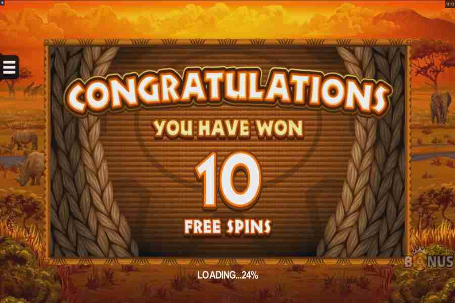 You Won 10 Free Spins