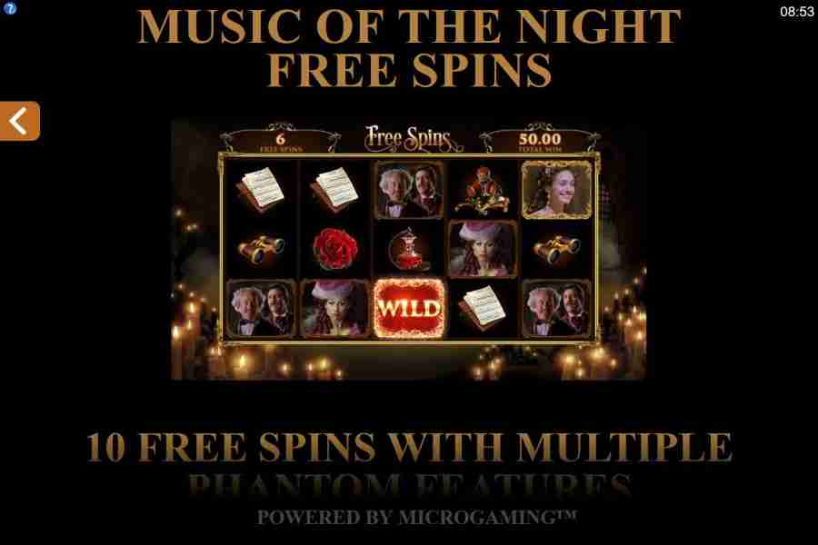 Music Of The Night Free Spins