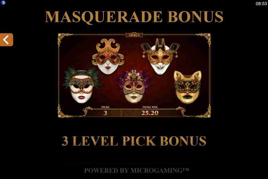 Masquerade Bonus Feature