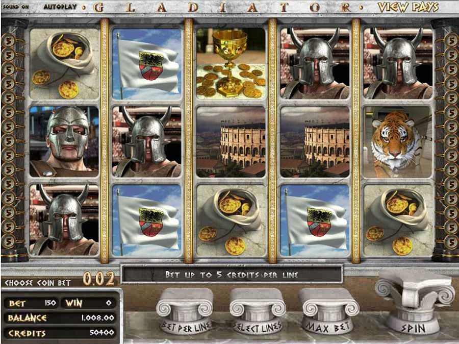 Gladiator Slots Screen