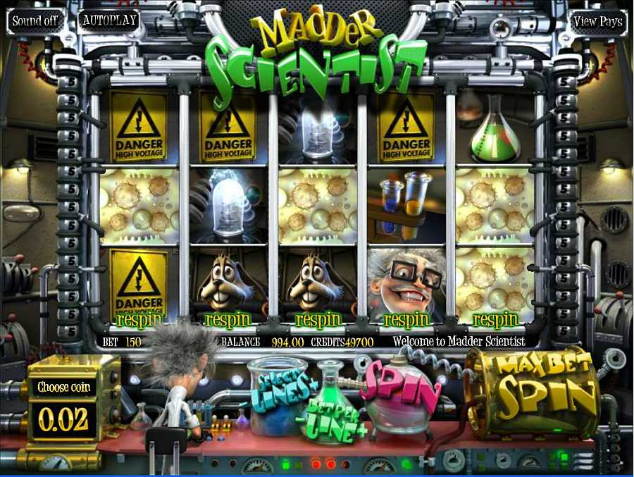 Madder Scientist Main Slots
