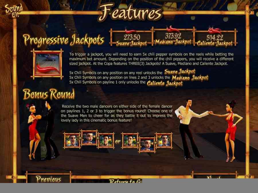 Progressive & Bonus Round Features