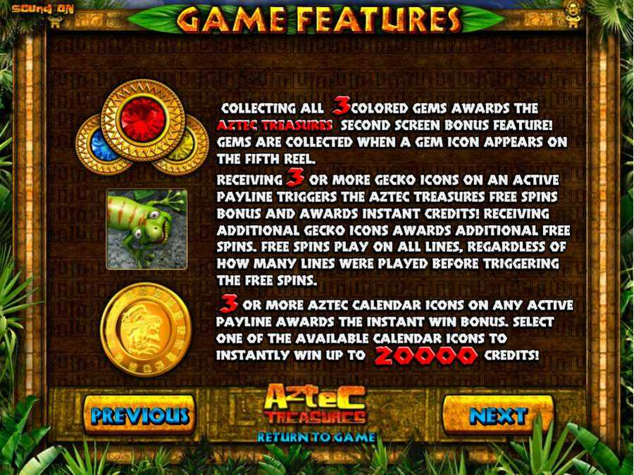Game Bonus Features