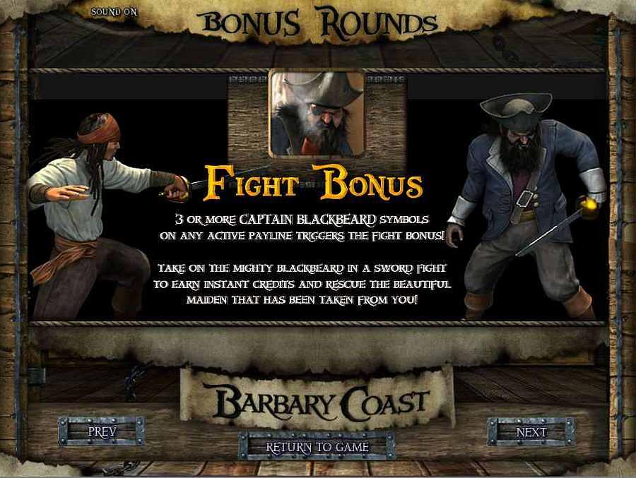 Barbary Coast Fight Bonus Feature