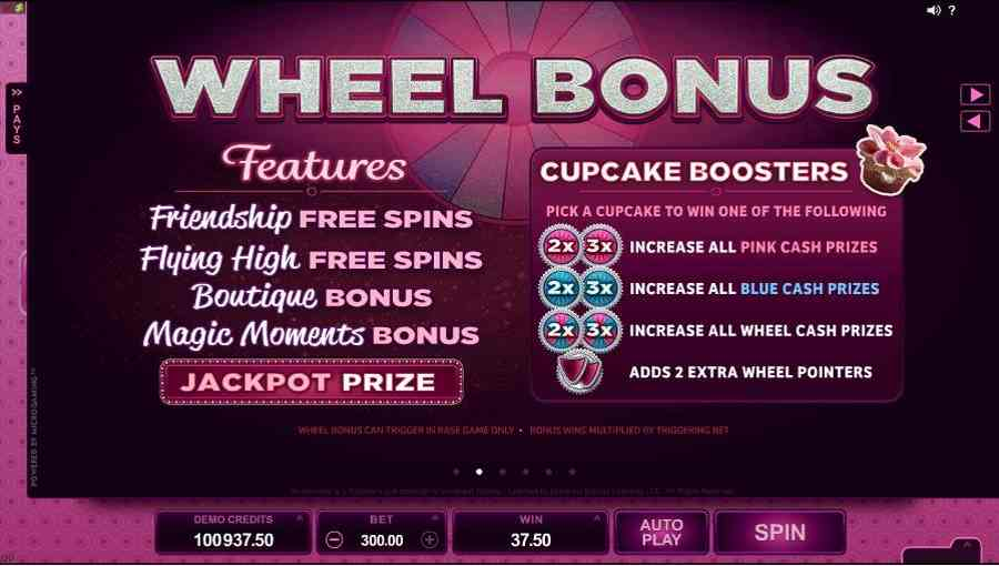 Bridesmaids Bonus Wheel Feature Screen