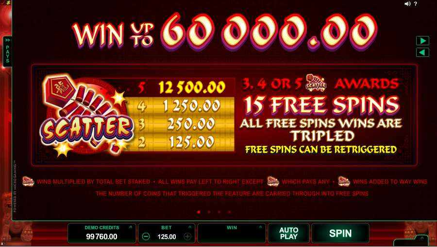 Dragon Dance Slots Scatter, Free Spins