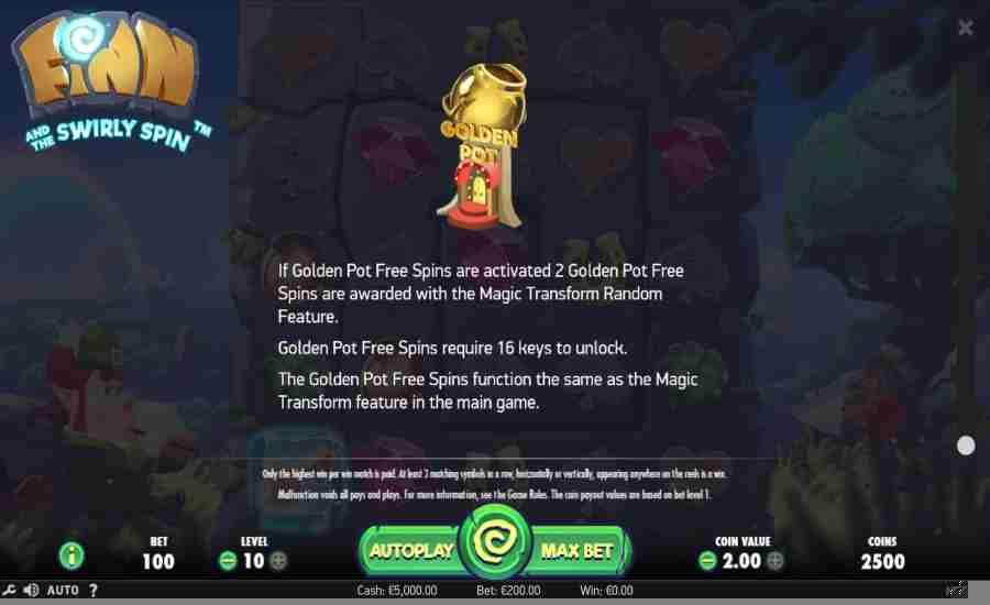 Golden Pot Free Spins