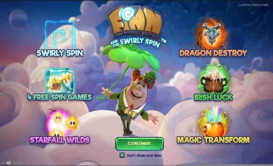 Finn and the Swirly Spin Splash Screen