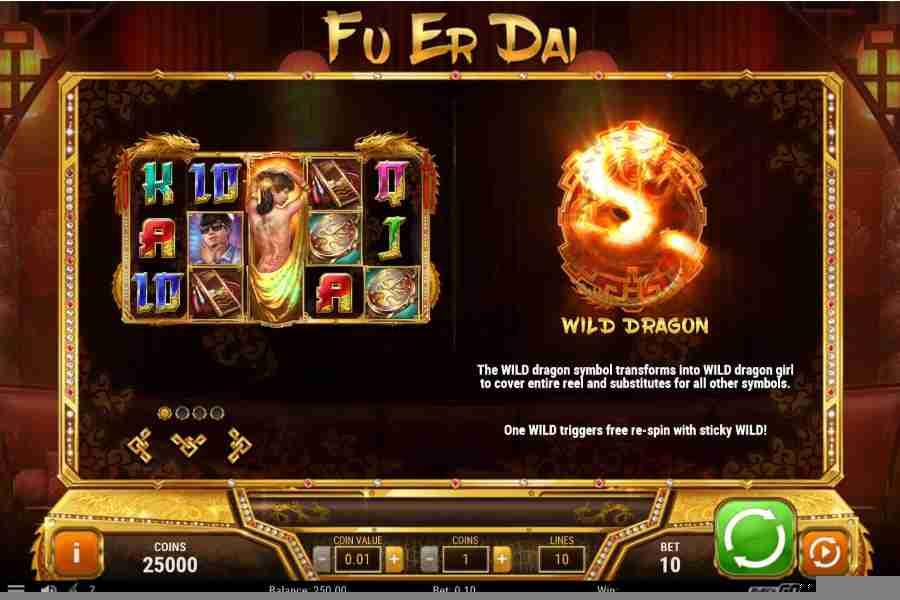 Fu Er Dai Wild Drogon Paytable