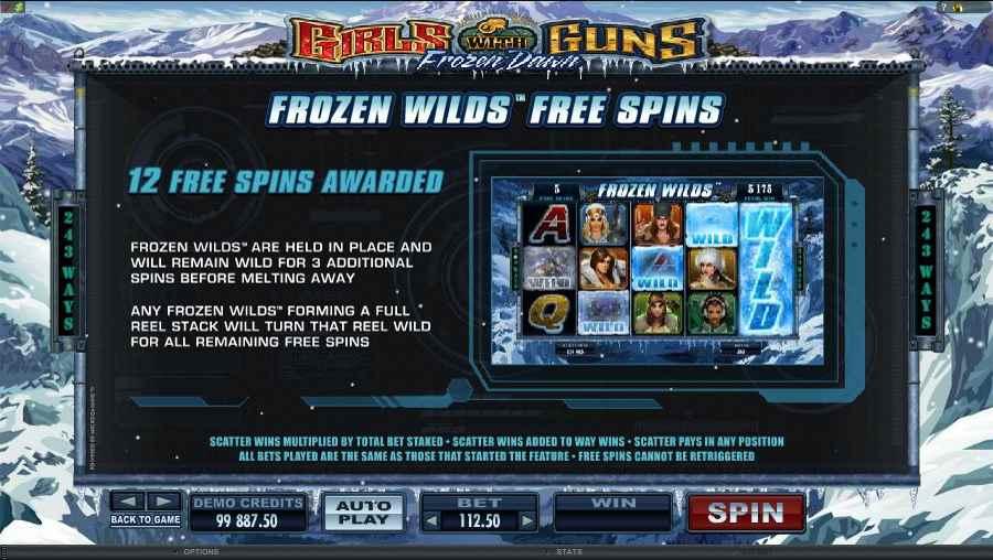 Frozen Wilds Free Spins Feature