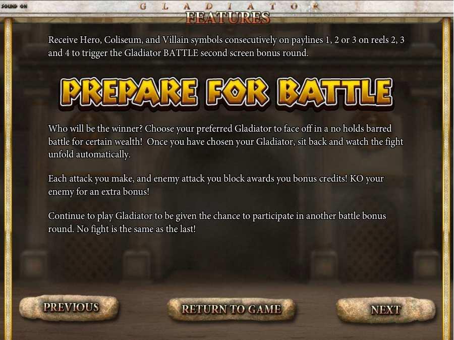 Prepare For Battle Feature
