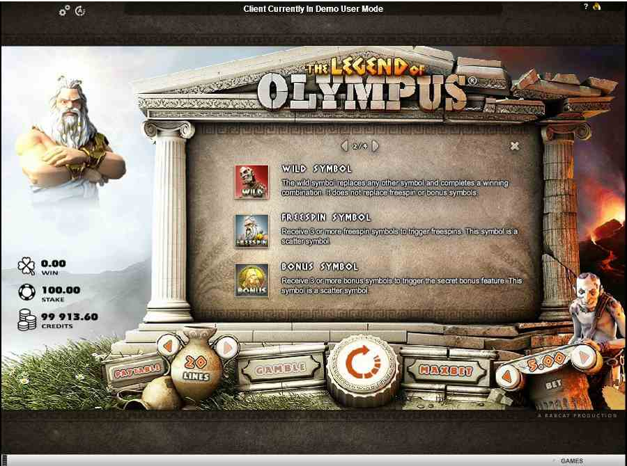 Legend of Olympus Free Spins Features