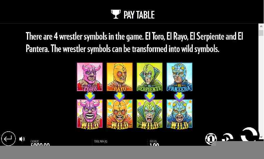 Luchadora Wrestler Symbols