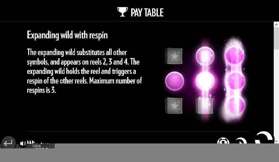 Expanding wild respin