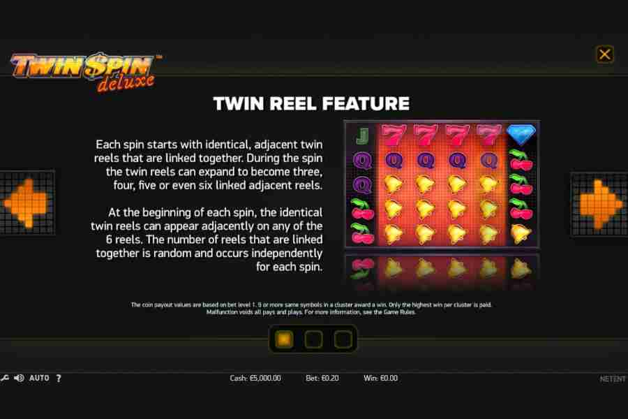 Twin Spin Deluxe Reel Feature