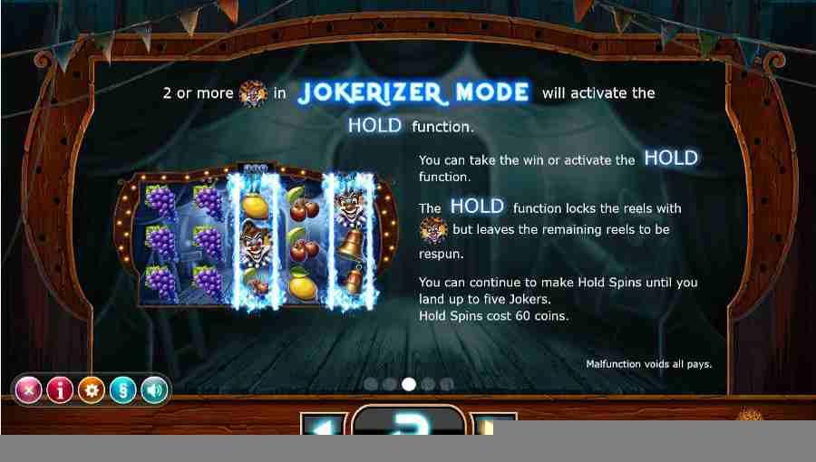 Jokerizer Hold Function Screen
