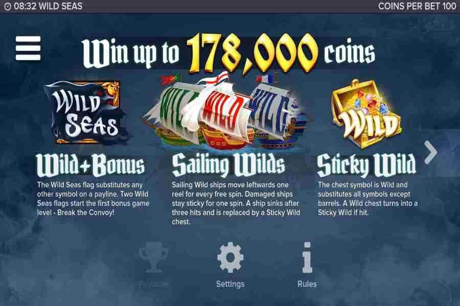 Wild Seas Win Upto 178,000 Coins
