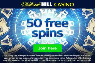 William Hill 50 Free Spins